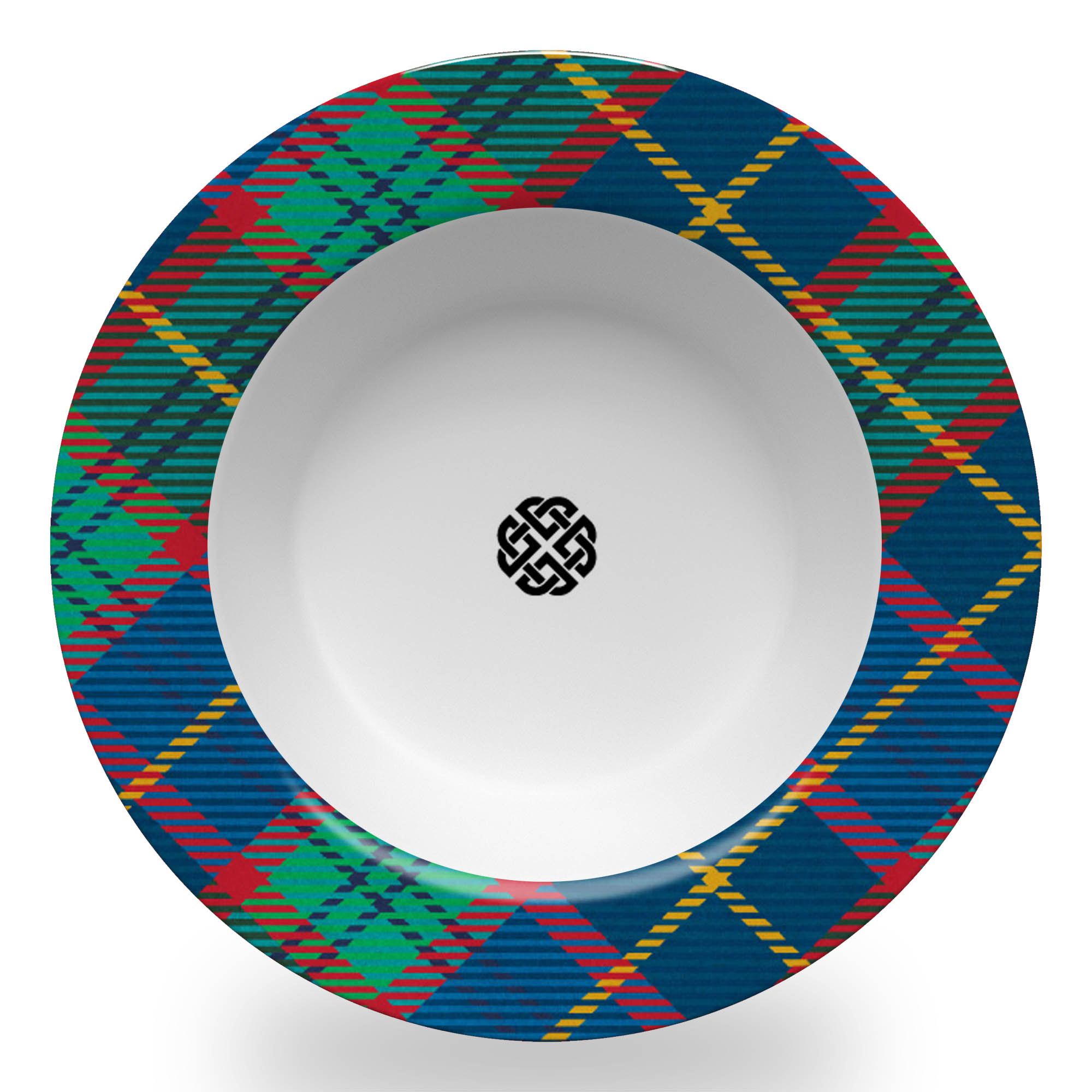 Tartan Bowl with Celtic Knot