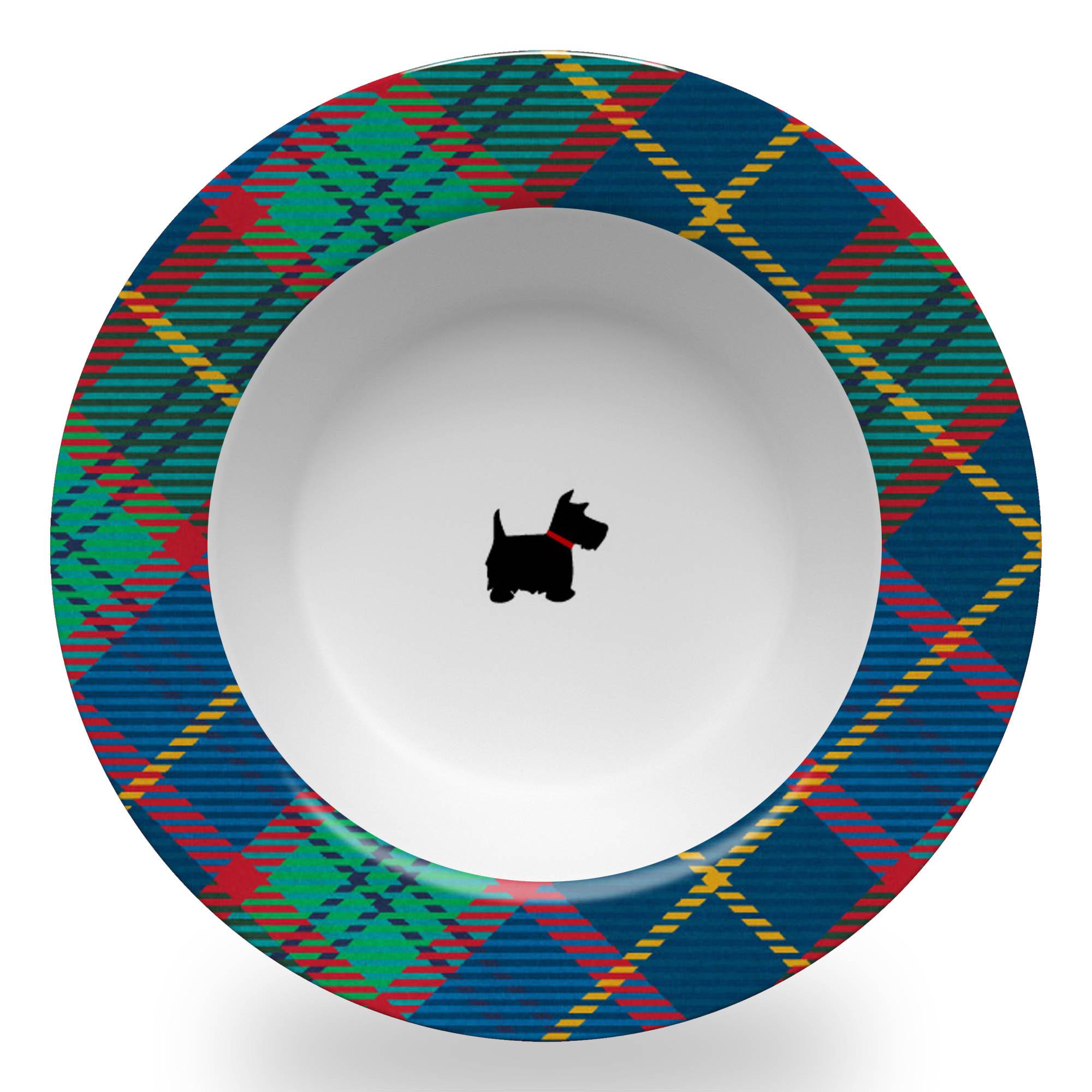 Tartan Bowl with Scottie Dog
