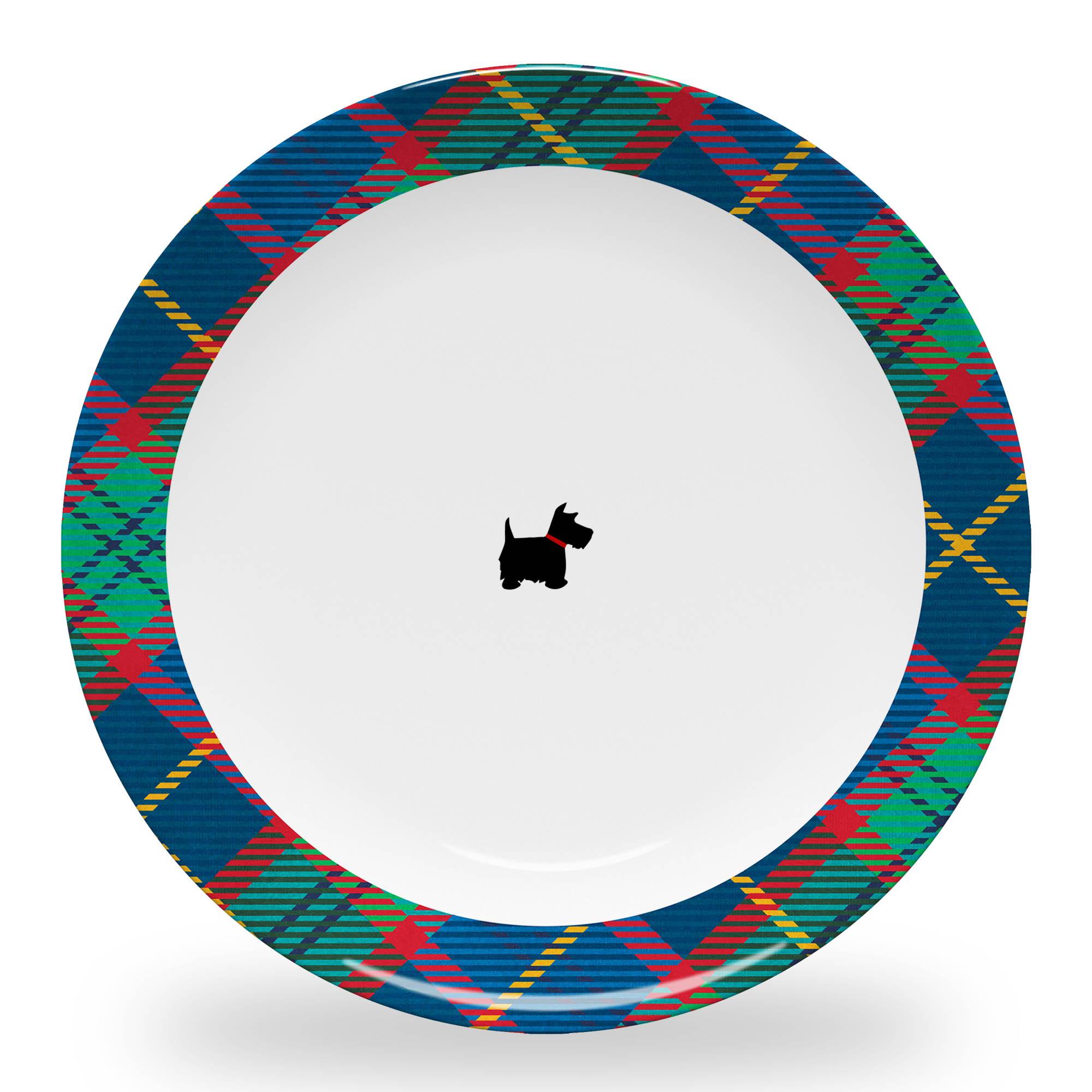 Tartan Plate with Scottie Dog