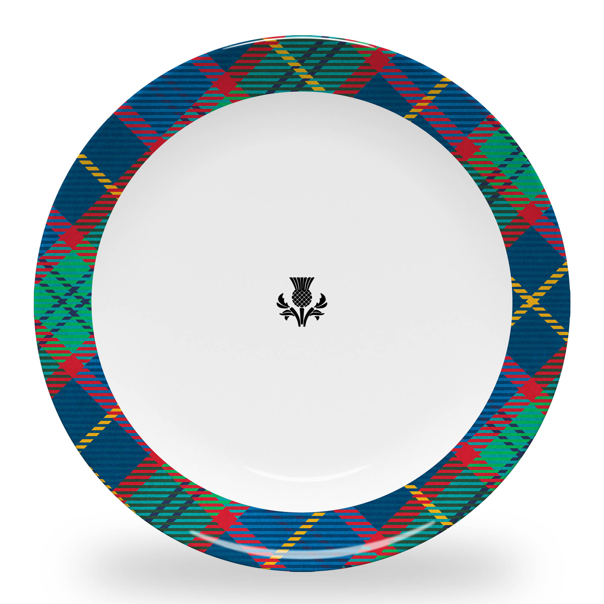 Tartan Plate with Thistle