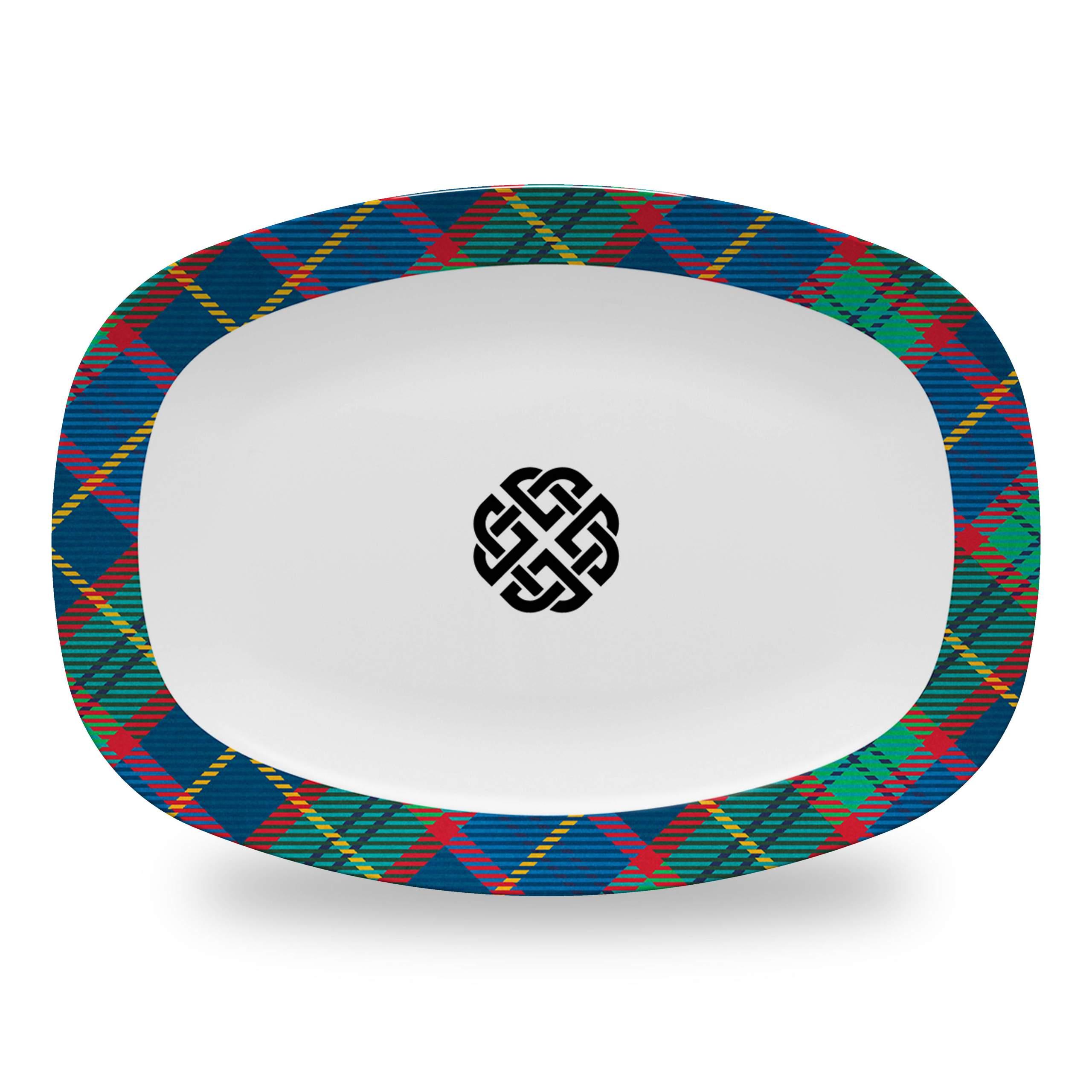 Tartan Platter with Celtic Knot