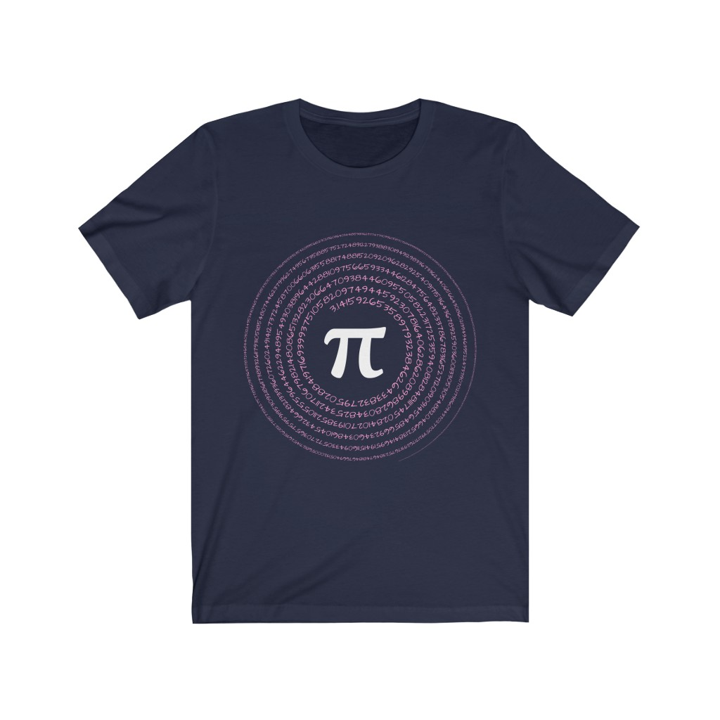 Spiral Pi T-Shirt | Navy and Pink