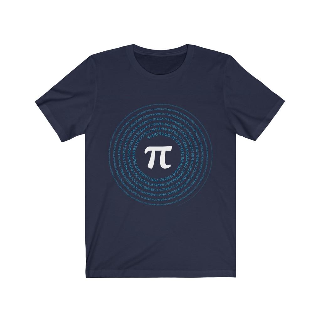 Spiral Pi T-Shirt | Navy and Lake