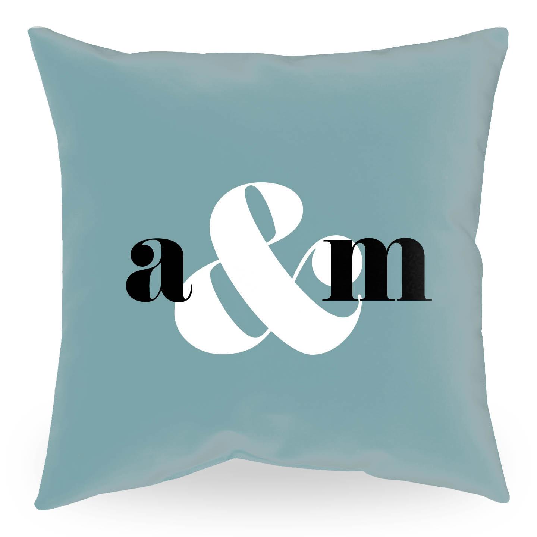 Ampersand Throw Pillow in Eucalyptus