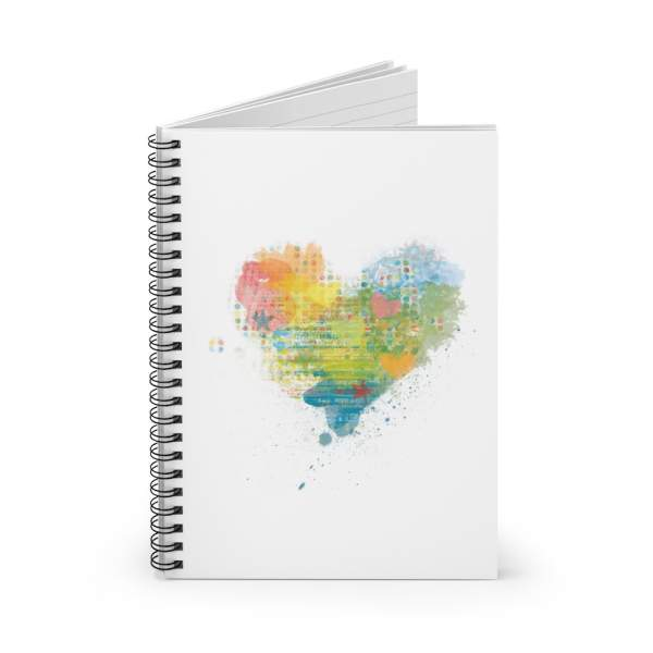 Kaleidoscope Heart Spiral Notebook with Ruled Paper