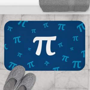 Pi Bath Mat in Navy and Lake