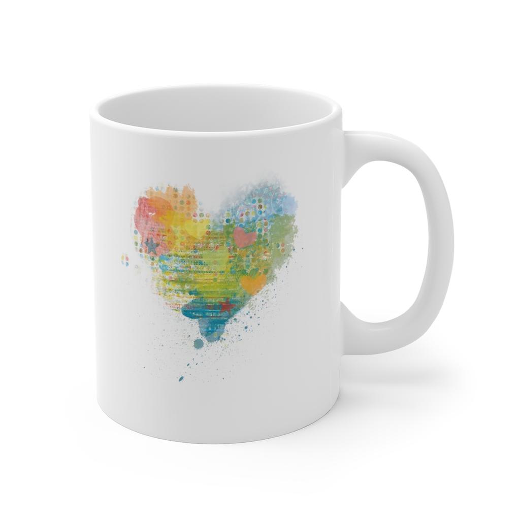 Kaleidoscope Heart Mug | 11 oz