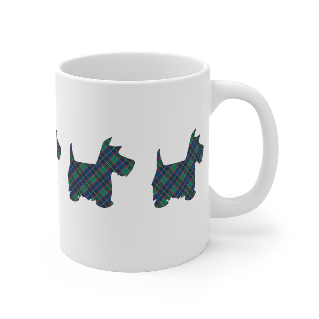 Tartan Scottie Dog Mug | 11 oz