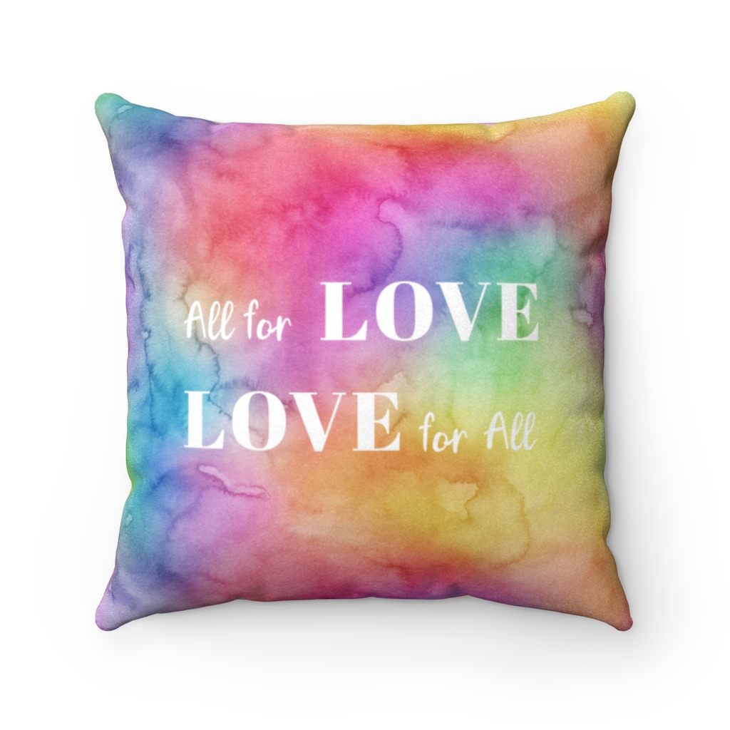 All for Love Throw Pillow – Front