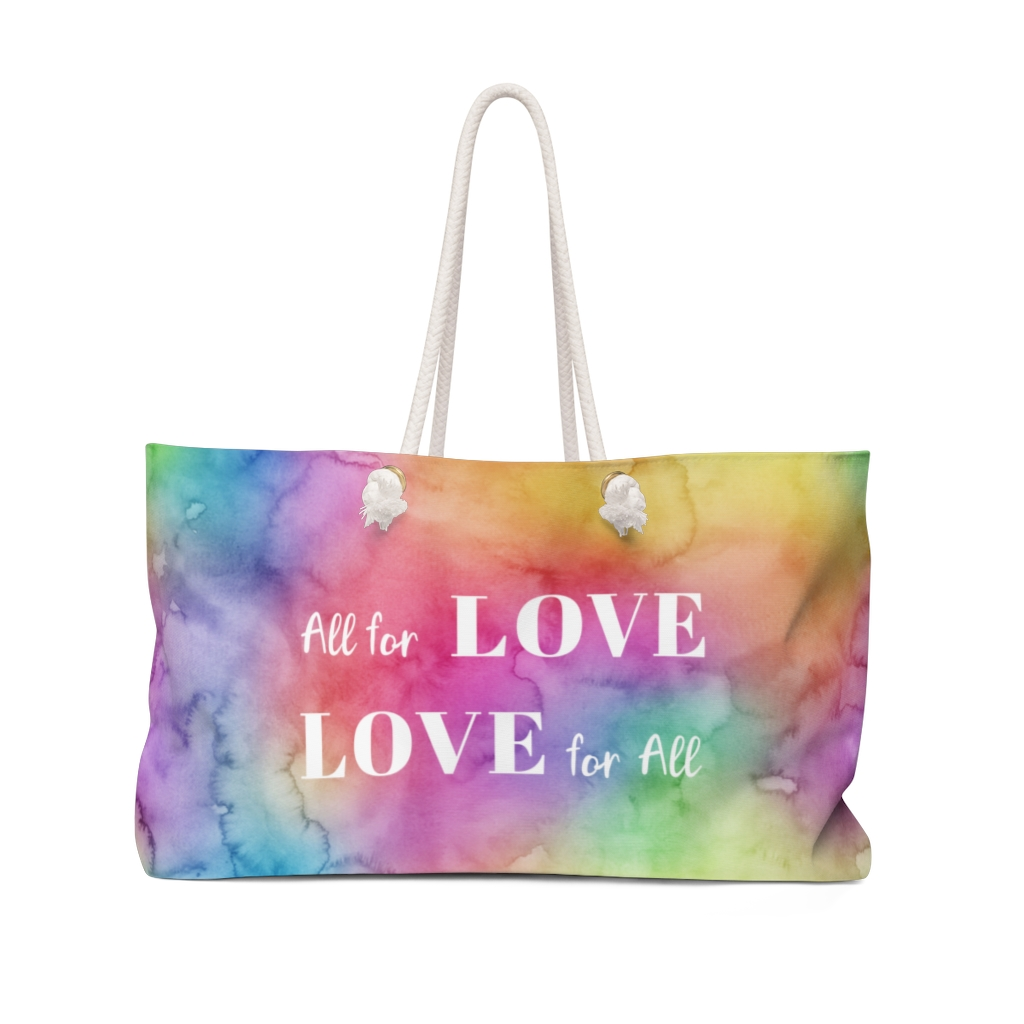 All for Love Weekender Tote – Front